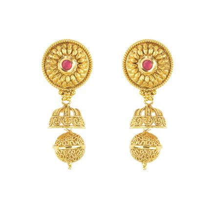 11721 Antique Jhumki with gold plating