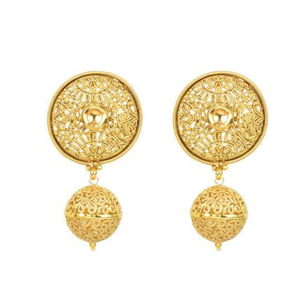 11723 Antique Plain Gold Earring