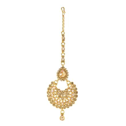 11727 Antique Chand Tikka with gold plating