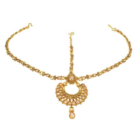11736 Antique Chand Damini with gold plating