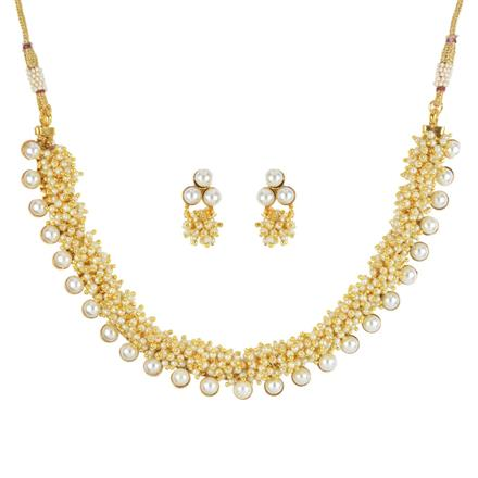 11737 Antique Delicate Necklace with gold plating