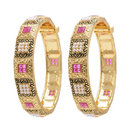 11745 Antique Openable Bangles with gold plating