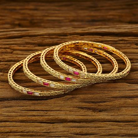 11749 Antique Classic Bangles with gold plating