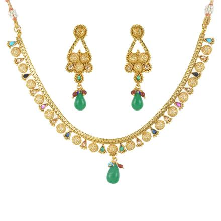 11750 Antique Delicate Necklace with gold plating