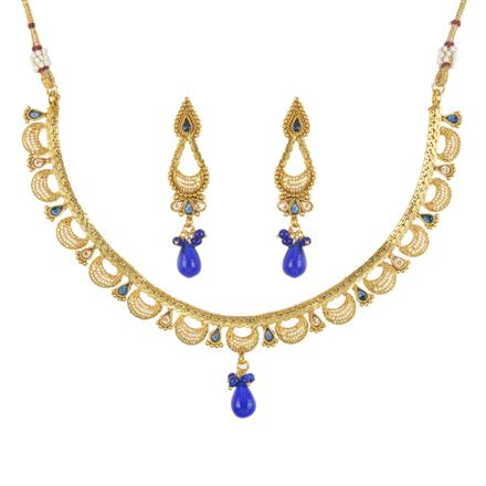 11753 Antique Delicate Necklace with gold plating