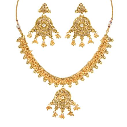 11754 Antique Classic Necklace with gold plating