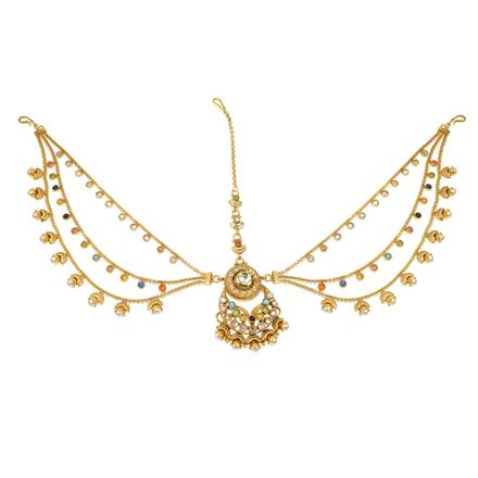 11756 Antique Chand Damini with gold plating