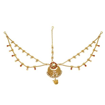 11757 Antique Chand Damini with gold plating