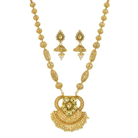 11764 Antique Mala Pendant Set with gold plating