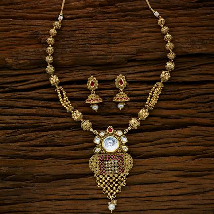 11765 Antique Mala Pendant Set with gold plating