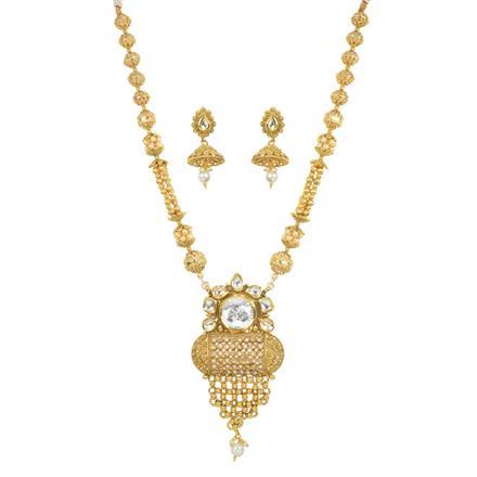 11766 Antique Mala Pendant Set with gold plating