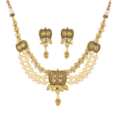 11767 Antique Mala Necklace with gold plating