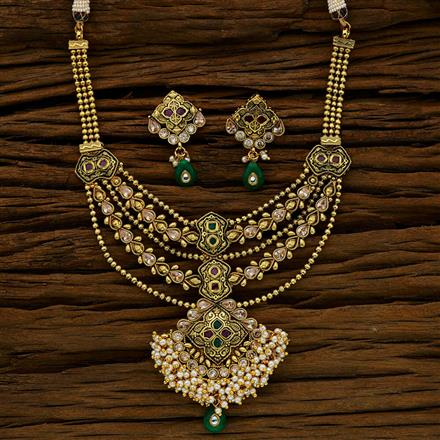 11768 Antique Classic Necklace with gold plating
