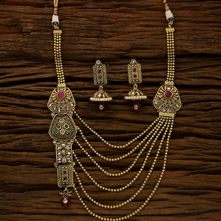 11769 Antique Long Necklace with gold plating