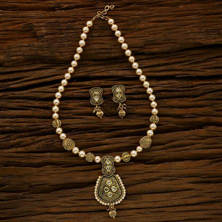 11771 Antique Mala Pendant Set with gold plating