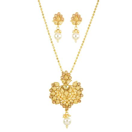 11777 Antique Classic Pendant Set with gold plating