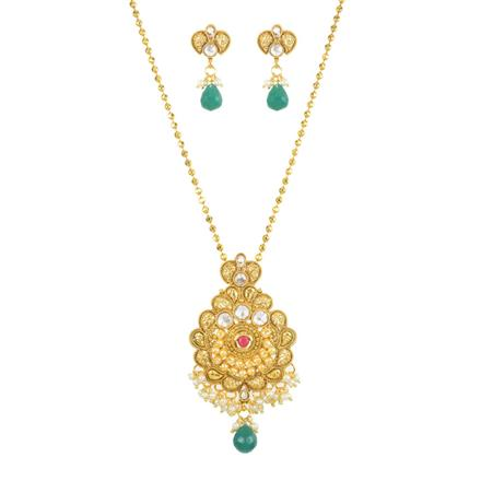 11778 Antique Classic Pendant Set with gold plating