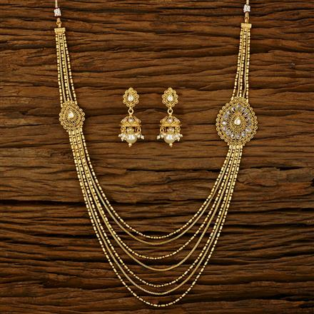 11781 Antique Side Pendant Necklace with gold plating