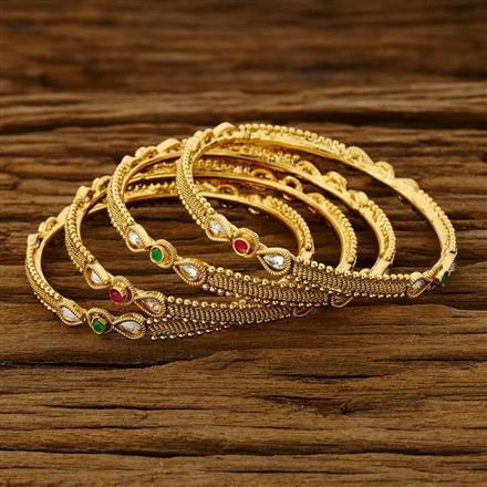11783 Antique Classic Bangles with gold plating