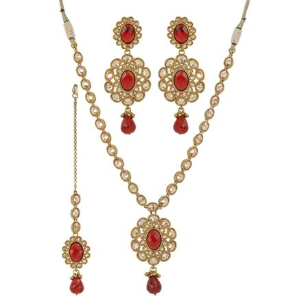 11784 Antique Classic Necklace with mehndi plating