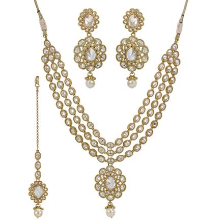 11785 Antique Classic Necklace with mehndi plating