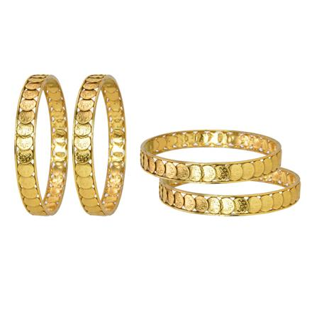 11789 Antique Temple Bangles with gold plating