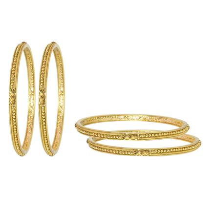 11792 Antique Classic Bangles with gold plating