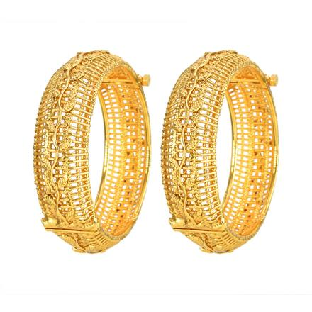11793 Antique Openable Bangles with gold plating