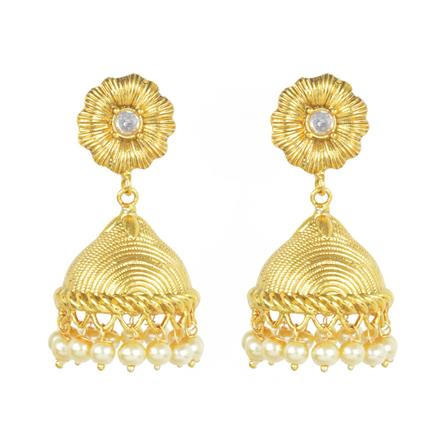 11796 Antique Jhumki with gold plating