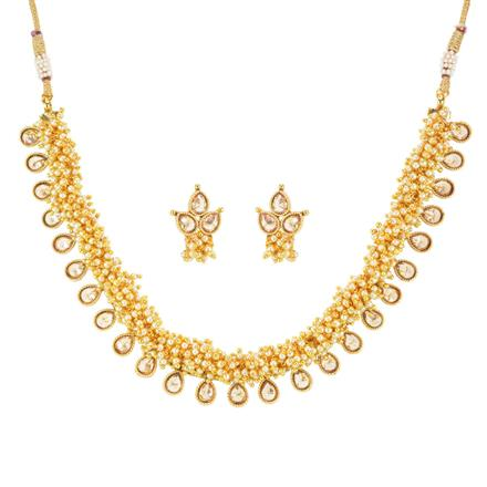 11799 Antique Delicate Necklace with gold plating