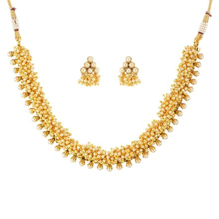 11801 Antique Delicate Necklace with gold plating