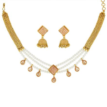 11802 Antique Choker Necklace with gold plating