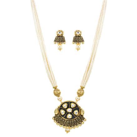11805 Antique Mala Pendant Set with gold plating