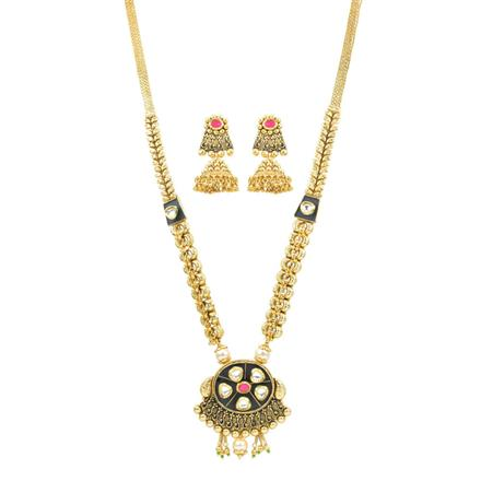 11806 Antique Long Necklace with gold plating