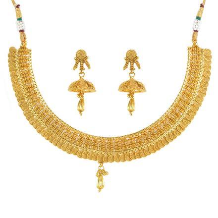 11807 Antique Plain Gold Necklace