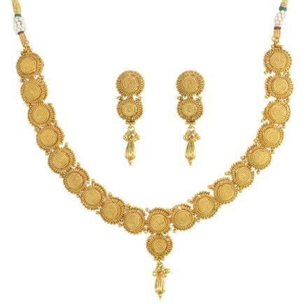 11808 Antique Plain Gold Necklace