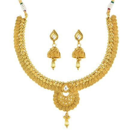 11809 Antique Plain Gold Necklace
