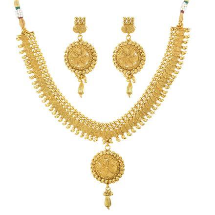 11810 Antique Plain Gold Necklace