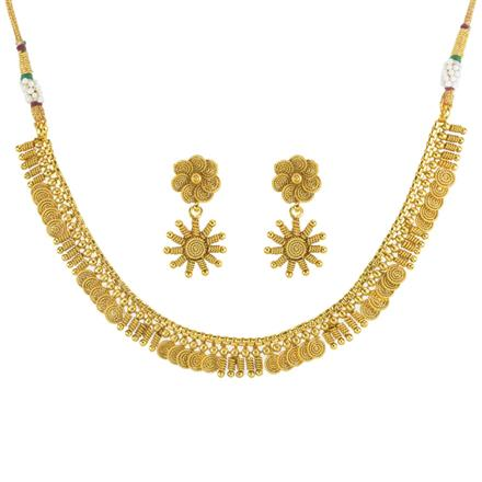 11811 Antique Delicate Necklace with gold plating