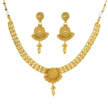 11812 Antique Delicate Necklace with gold plating