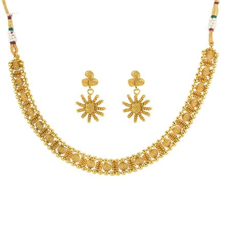 11813 Antique Delicate Necklace with gold plating