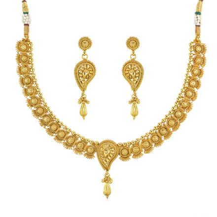 11814 Antique Delicate Necklace with gold plating