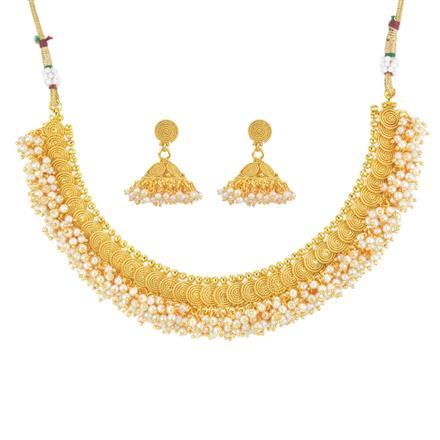 11815 Antique Plain Gold Necklace