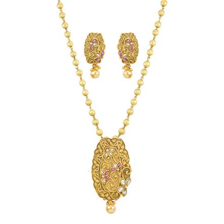 11822 Antique Classic Pendant Set with gold plating