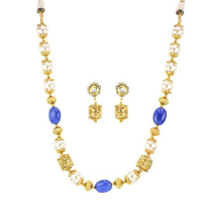 11824 Antique Mala Necklace with gold plating