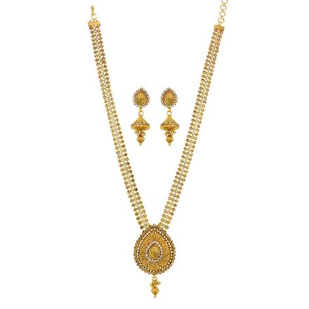 11825 Antique Long Necklace with gold plating