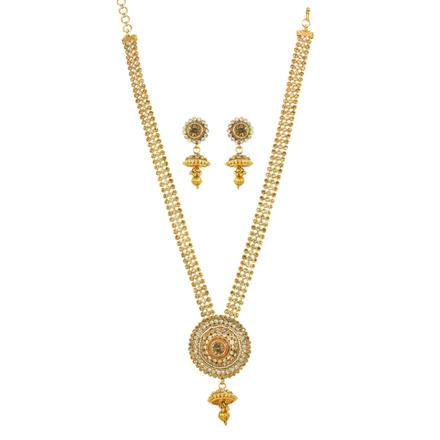 11827 Antique Long Necklace with gold plating