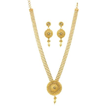 11828 Antique Long Necklace with gold plating
