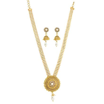 11829 Antique Long Necklace with gold plating