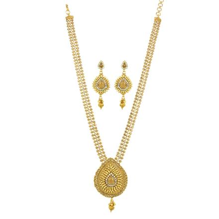 11830 Antique Long Necklace with gold plating
